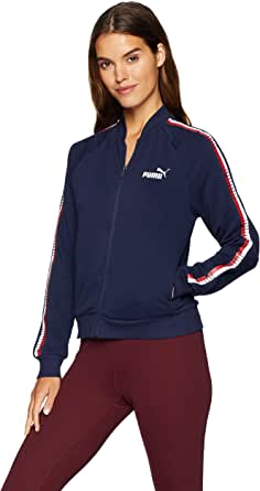 PUMA Women's Tape Full Zip Jacket French Terry