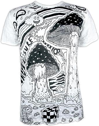Sure Camiseta Hombre Mushroom Dreamland Talla M L XL Arte Psicodélico Cáñamo Hippie Alucinógeno: Amazon.es: Ropa y accesorios