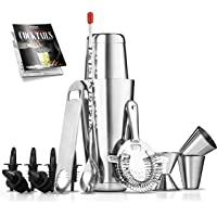 Mixology Bartender Cocktail Shaker Set - 15 & 30 oz Stainless Steel Cocktail Bar Set Mix Drink Shaker Kit - Essentials…