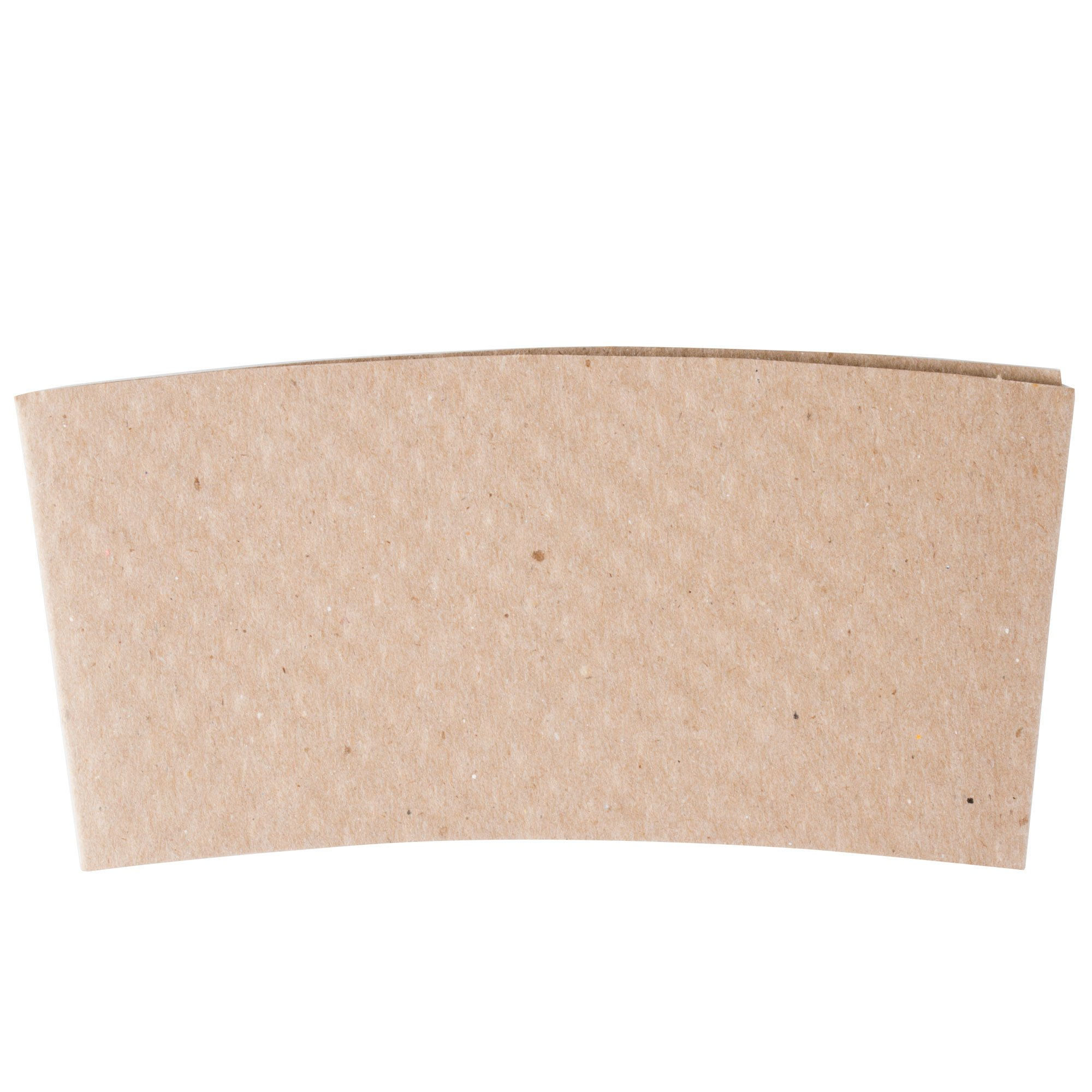 12-24 oz. Natural Kraft Customizable Embossed Coffee Cup Sleeve - 1500/Case