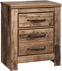 """Signature Design by Ashley B224-92 Blaneville Nightstand, 15.91"""" D x 24.21"""" W x 29.23"""" H, Brown"""