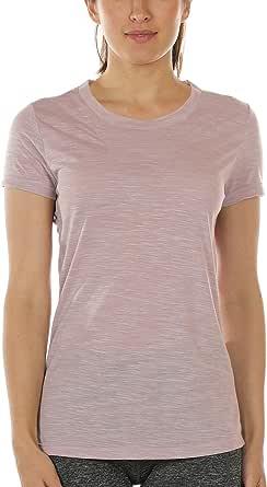 icyzone Dames shirt met korte mouwen ademend bovenstuk Fitness Gym Top Casual T-Shirt