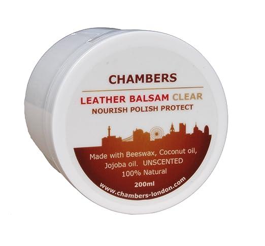 El Bálsamo Acondicionador y Restaurador Natural para Cuero de Chambers en envase de 200ml es adecuado para todos los cueros blandos y perfecto para ...
