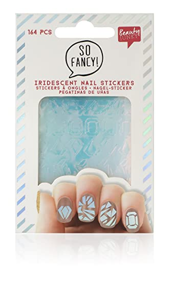 Npw Nail Art Stickers Decals Pack Of 64 Irridescent Cut Glass