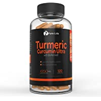 Turmeric Curcumin Ultra with Bioperine – Black Pepper Seed Extract - Root Powder Turmeric Supplements – 2000% Increased Bioavailability - Organic Gold Standard Capsules for Premium Absorption – Improved over Tea, Cream, & Oil – Perfect Daily Dr Recommended Dose Better than 1000mg or 1300mg