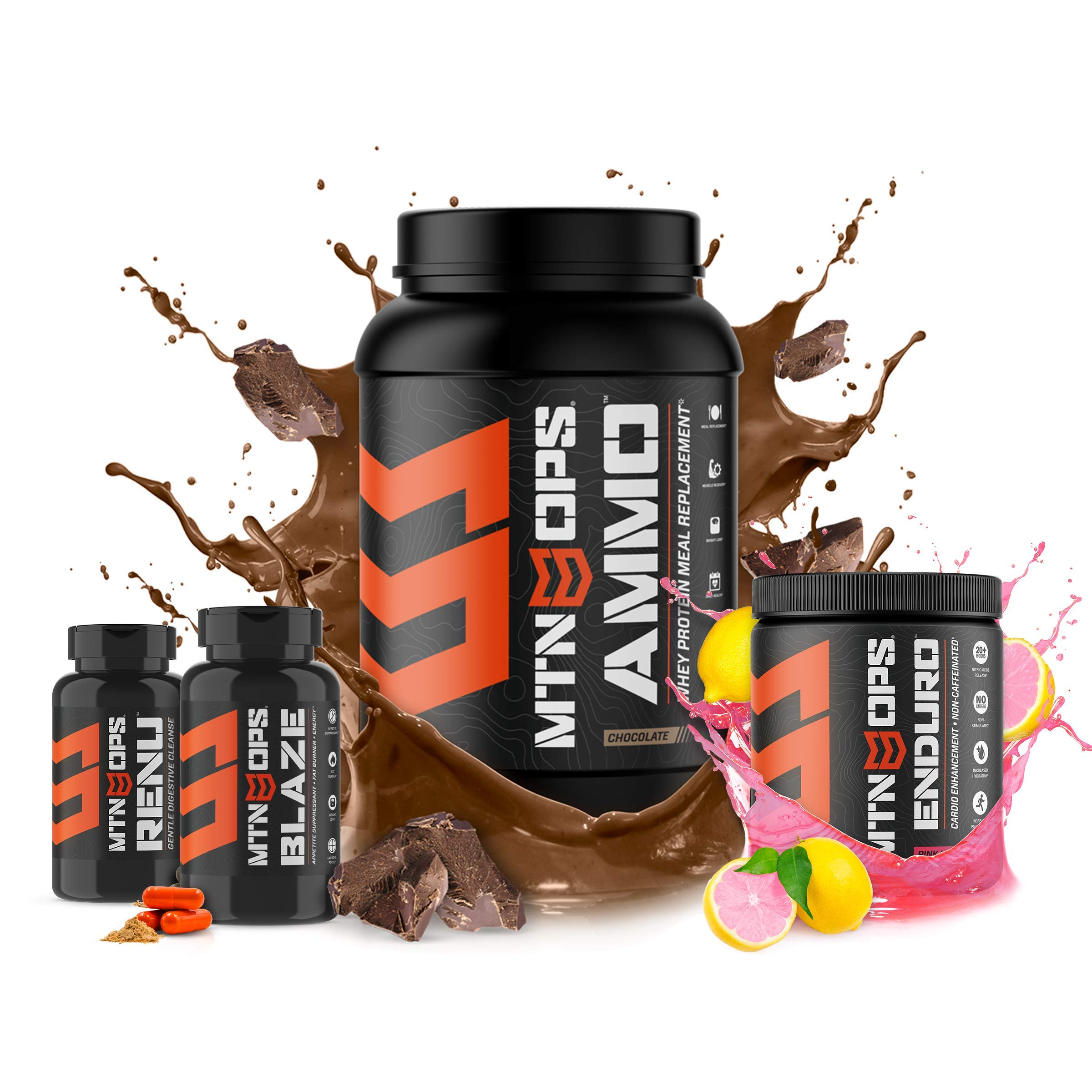 Mtn Ops Conquer Weight Loss Combo - Includes Ammo, Enduro, Blaze Capsules and Renu Capsules, Varied, 4 Count