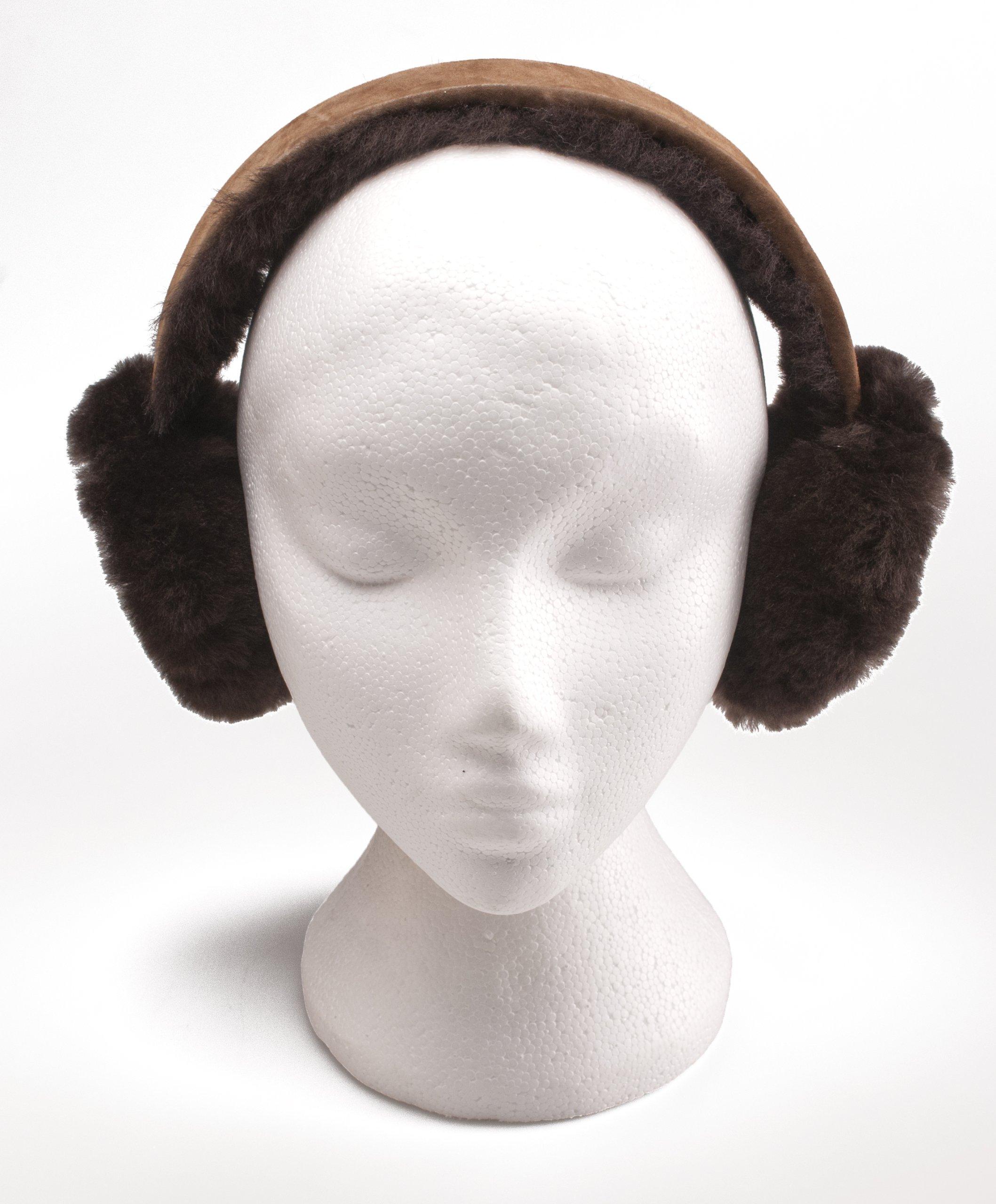 Oakgrain Women's Oakgrain Genuine Sheepskin Ear Muffs One Size Chocolate