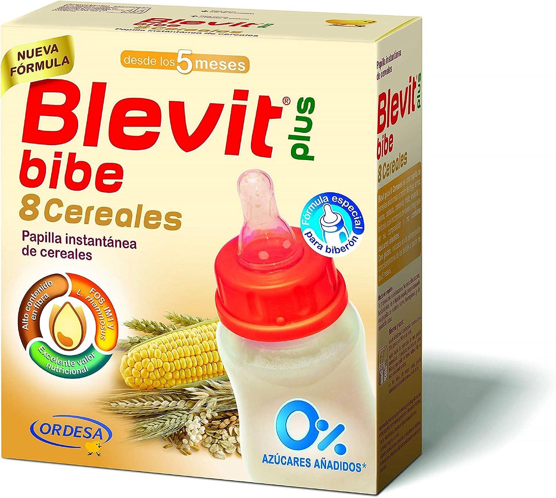 Blevit Plus 8 Cereales Para Biberón - 1 unidad 600 gr. A partir de los 5 meses.: Amazon.es: Alimentación y bebidas
