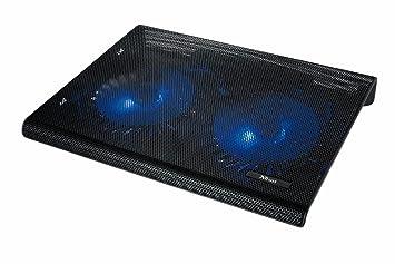 Trust Azul - Base de refrigeración para portátiles (dos ventiladores), negro: Trust: Amazon.es: Informática