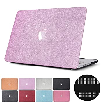 buy online 500d9 2396c Macbook Air 11 Case, PapyHall Glitter Bling Frosted Texture 2 in 1 Macbook  Plastic Case Cover fro Macbook Air 11 inch Model: A1370/A1465(MS-Purple)