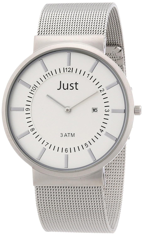 Just Watches 48-S4662-SL - Reloj analógico de Cuarzo para Hombre, Correa de Acero Inoxidable Color Plateado