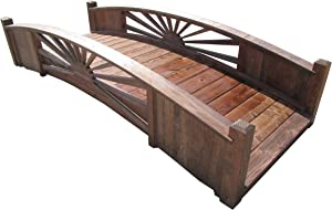 SamsGazebos 8-Foot Sunburst Garden Bridge