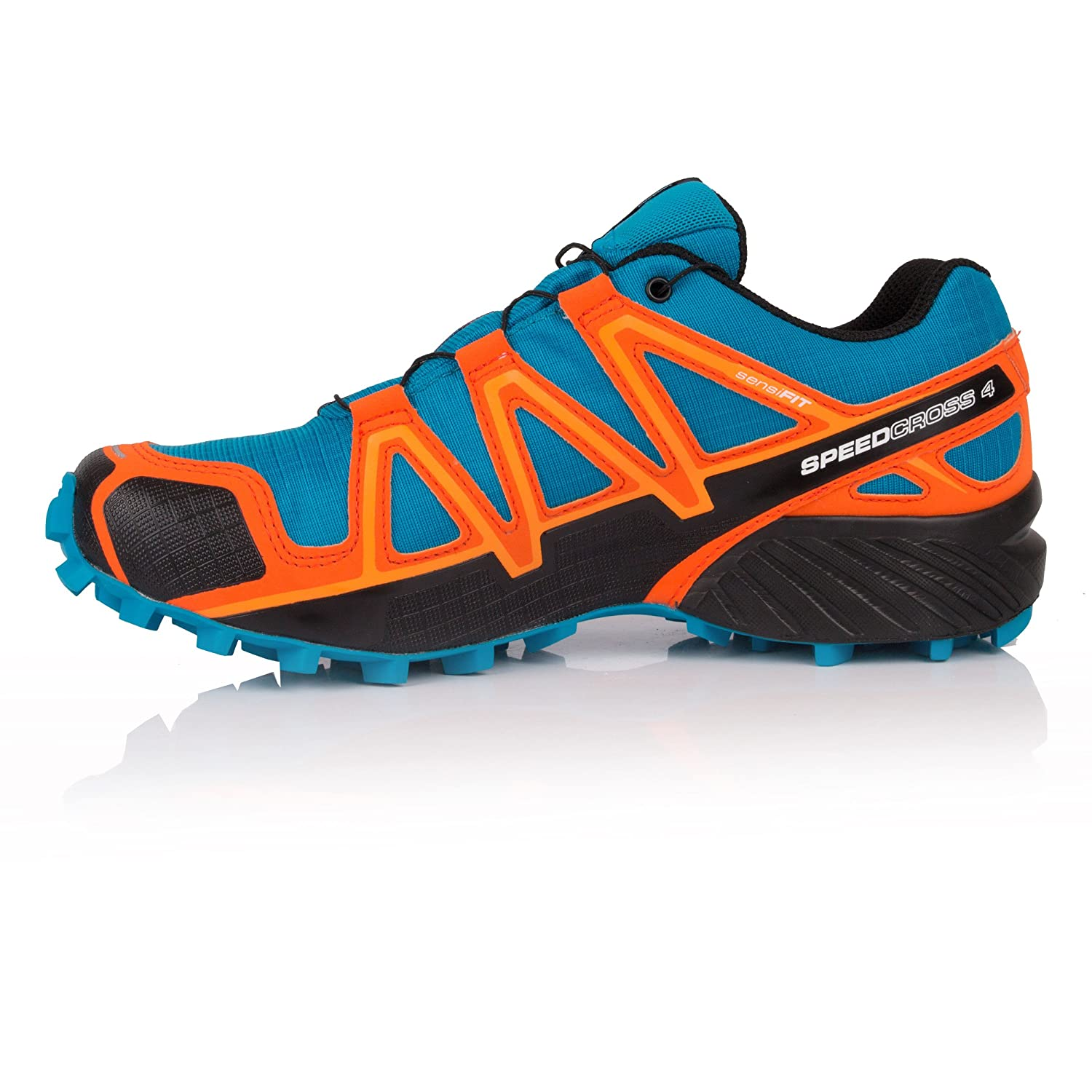 a8606ca996d6 Salomon Men s Speedcross 4 GTX Trail Running Shoes Hawaiian Surf Black Scarlet  Ibis 11  Buy Online at Low Prices in India - Amazon.in