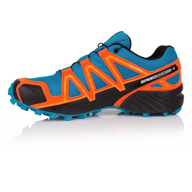Salomon Men s Speedcross 4 GTX Trail Running Shoes Hawaiian Surf Black Scarlet  Ibis 11  Buy Online at Low Prices in India - Amazon.in d00bbd7ffce