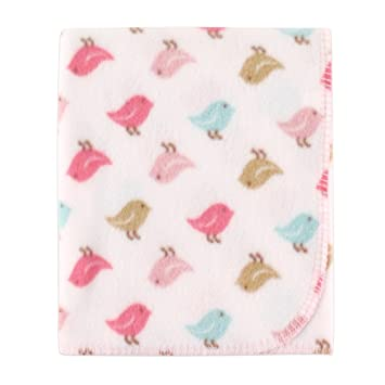 1d3616046b3e Amazon.com : Luvable Friends Printed Fleece Blanket, Birds : Baby
