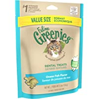 Feline GREENIES Dental Cat Treats Oceanfish & Flavor Fusions