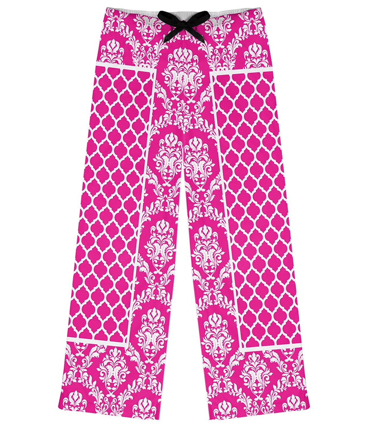 L RNK Shops Moroccan /& Damask Womens Pajama Pants Personalized Pink