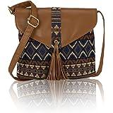Kleio Jacquard Stylish Sling bag for Women/Girls