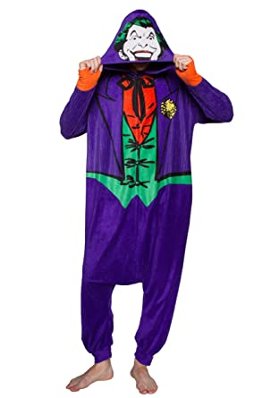 Amazon.com: DC Comics El Joker Kigurumi One Piece Pajama ...