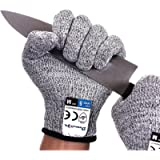 Dowellife Cut Resistant Gloves Food Grade Level 5 Protection, Safety Kitchen Cuts Gloves for Oyster Shucking, Fish…