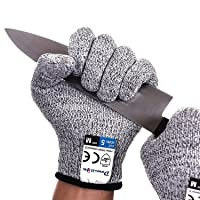 Dowellife Cut Resistant Gloves Food Grade Level 5 Protection, Safety Kitchen Cuts...