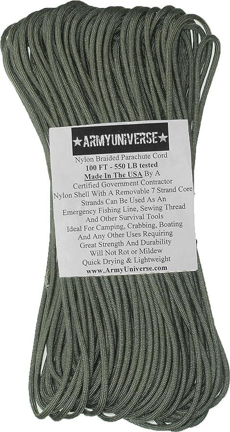 Amazon.com   Army Universe 550lbs. Military Paracord Type III Rope ... d114beba429