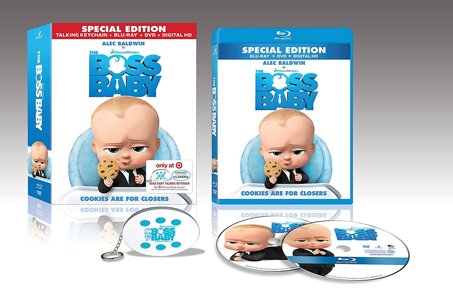 Amazon Com Special Edition The Boss Baby Blu Ray Dvd Digital Hd And Talking Keychain Movies Tv