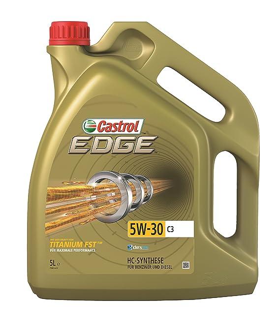 Castrol 52605 EDGE Titanium - Aceite para motor FST 5W-30 C3: Amazon.es: Coche y moto