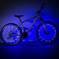 2 Pcs Roue Lumières, ZeWoo 20 LED Vélo Bicyclette Roues Feux de Jante Imperméable Guirlandes Lumineuses Décoratives