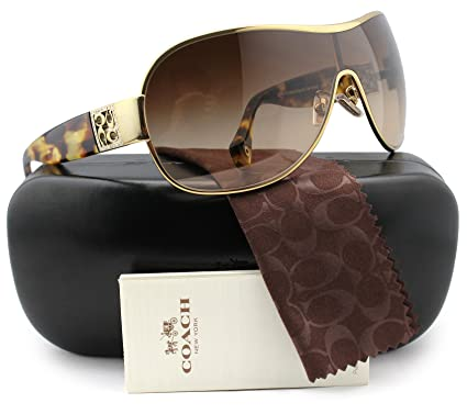 3423f2765137a Amazon.com  COACH HC7005B L016 Reagan Sunglasses Gold Tortoise w Brown  Gradient (9018 13) HC 7005 901813 35mm Authentic + Cleaning Care-Kit   Clothing