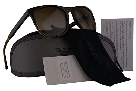 Emporio Armani EA4099 Sunglasses Military Striped Brown w Brown Gradient  Lens 557113 EA 4099 12a07ab56e