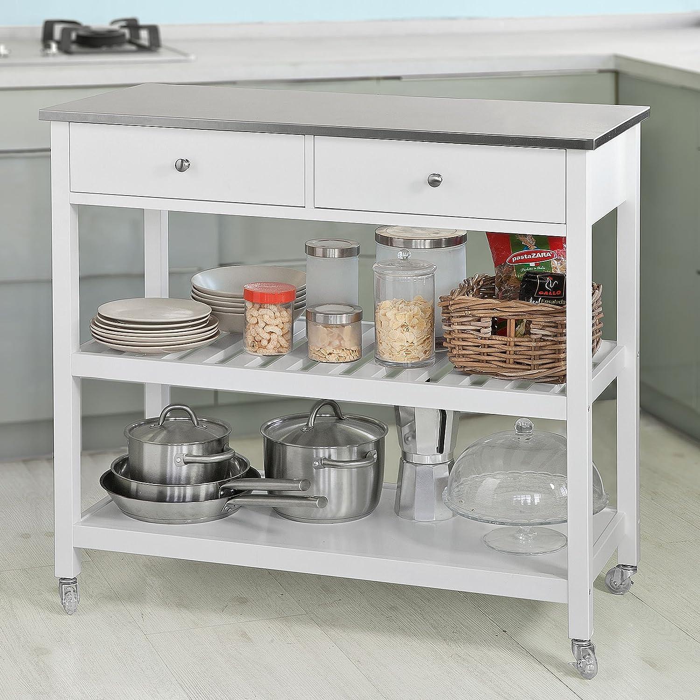 Beautiful mobili cucina acciaio pictures for Carrello portavivande amazon