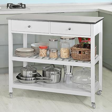 SoBuy® Carrito de servir, estantería de cocina, carrito de cocina ...