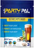 PartyPal® (5) Natural Hangover Relief & Prevention Not a Hangover Cure or Hangover Pills | Detox & Enhance your body's ability to metabolize toxins | Replenish & Revitalize |100% Money Back Guarantee!