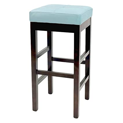 Pleasing New Pacific Direct 108627 3632 Valencia Backless Leather Counter Stool 27 Blue Pabps2019 Chair Design Images Pabps2019Com