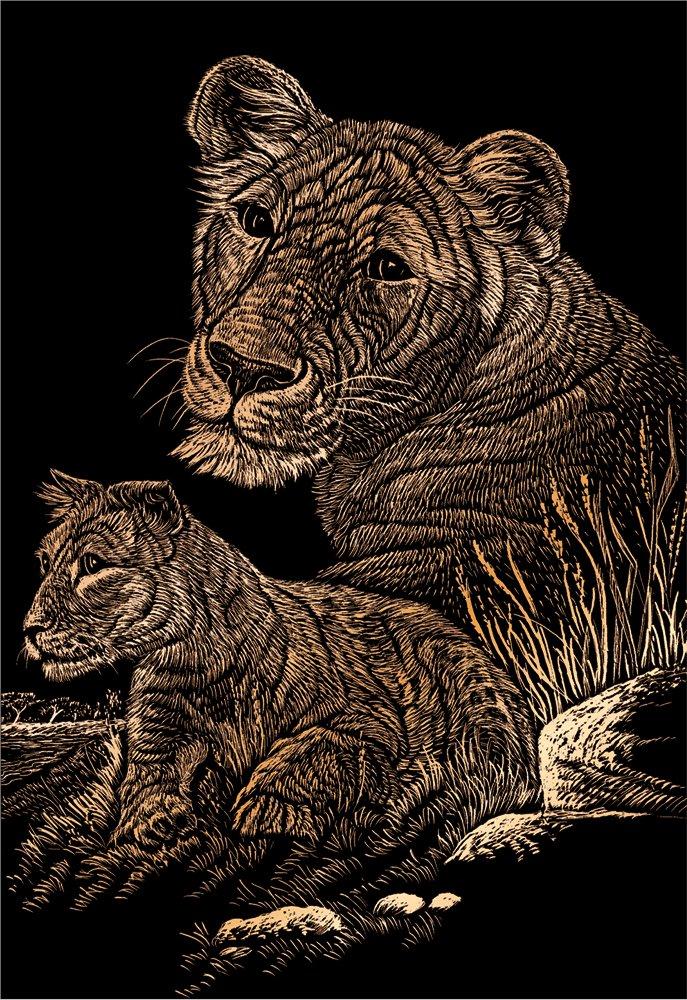 Royal and Langnickel Copper Engraving Art Panda and Baby