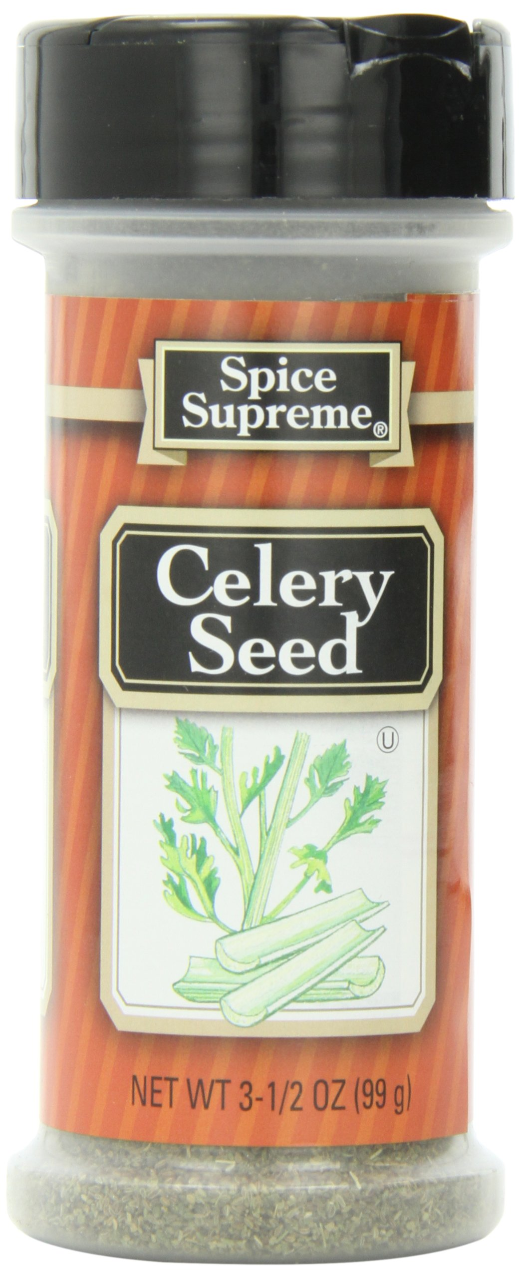 Spice Supreme Celery Seed, Whole, 3.5-Ounce (Pack of 12)