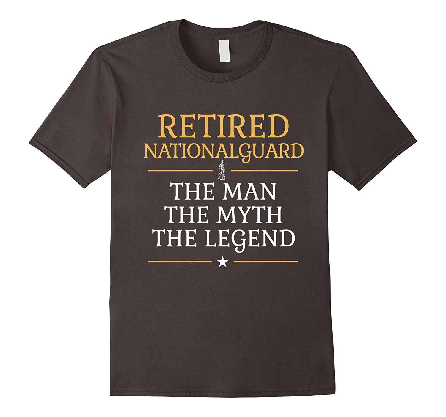 Mens Retired National Guard The Man The Myth The Legend T-shirt-RT