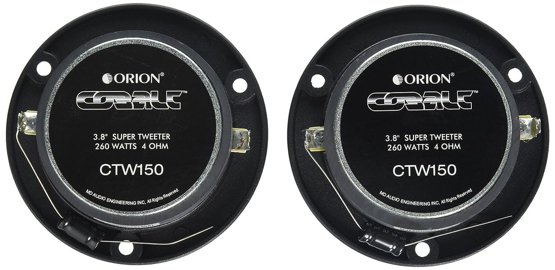 Orion CTW150 1.25 260W Cobalt Bullet Car Audio Tweeter