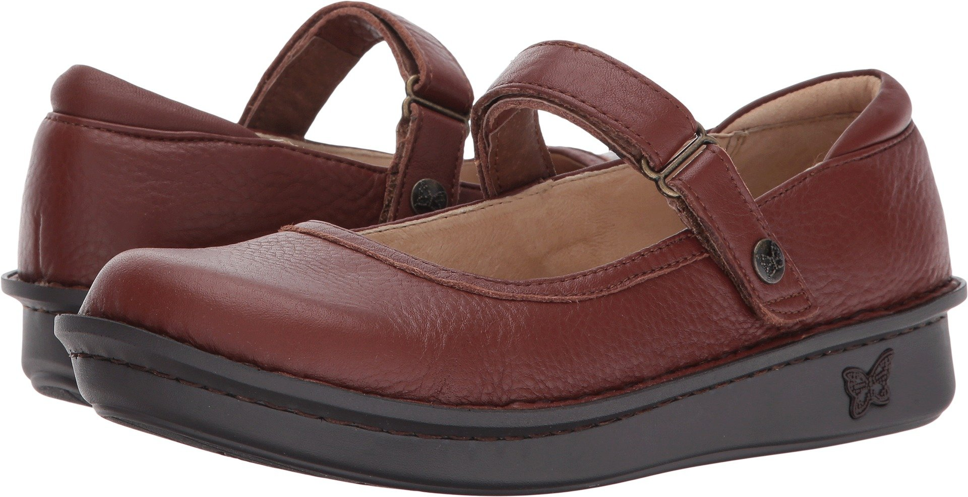 Alegria Women's Belle Mary Jane Flat, Pecan, 39 M EU