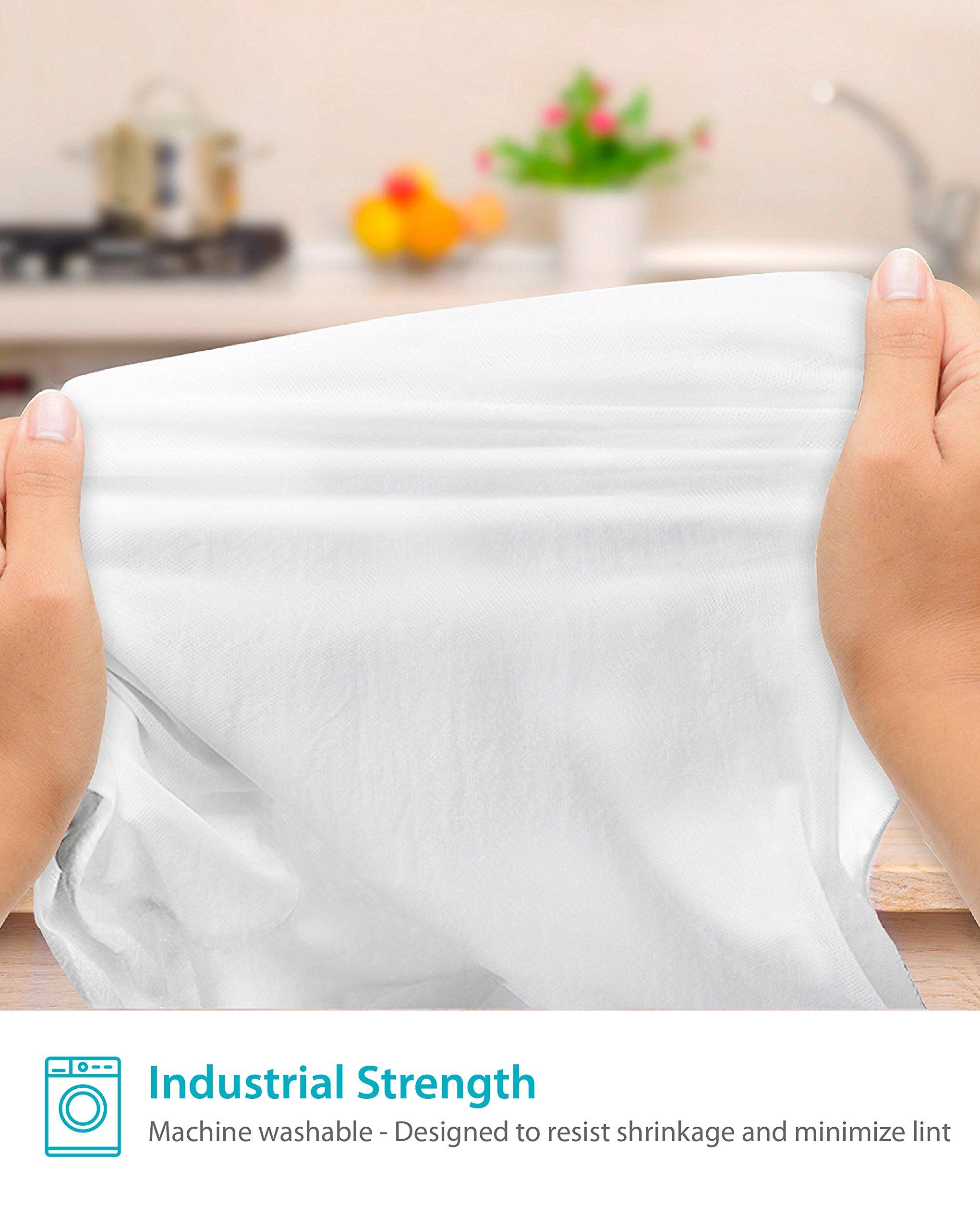 Zeppoli 12-Pack Flour Sack Towels - 31'' x 31'' Kitchen Towels - Absorbent White Dish Towels - 100% Ring Spun Cotton Bar Towels by Zeppoli (Image #5)