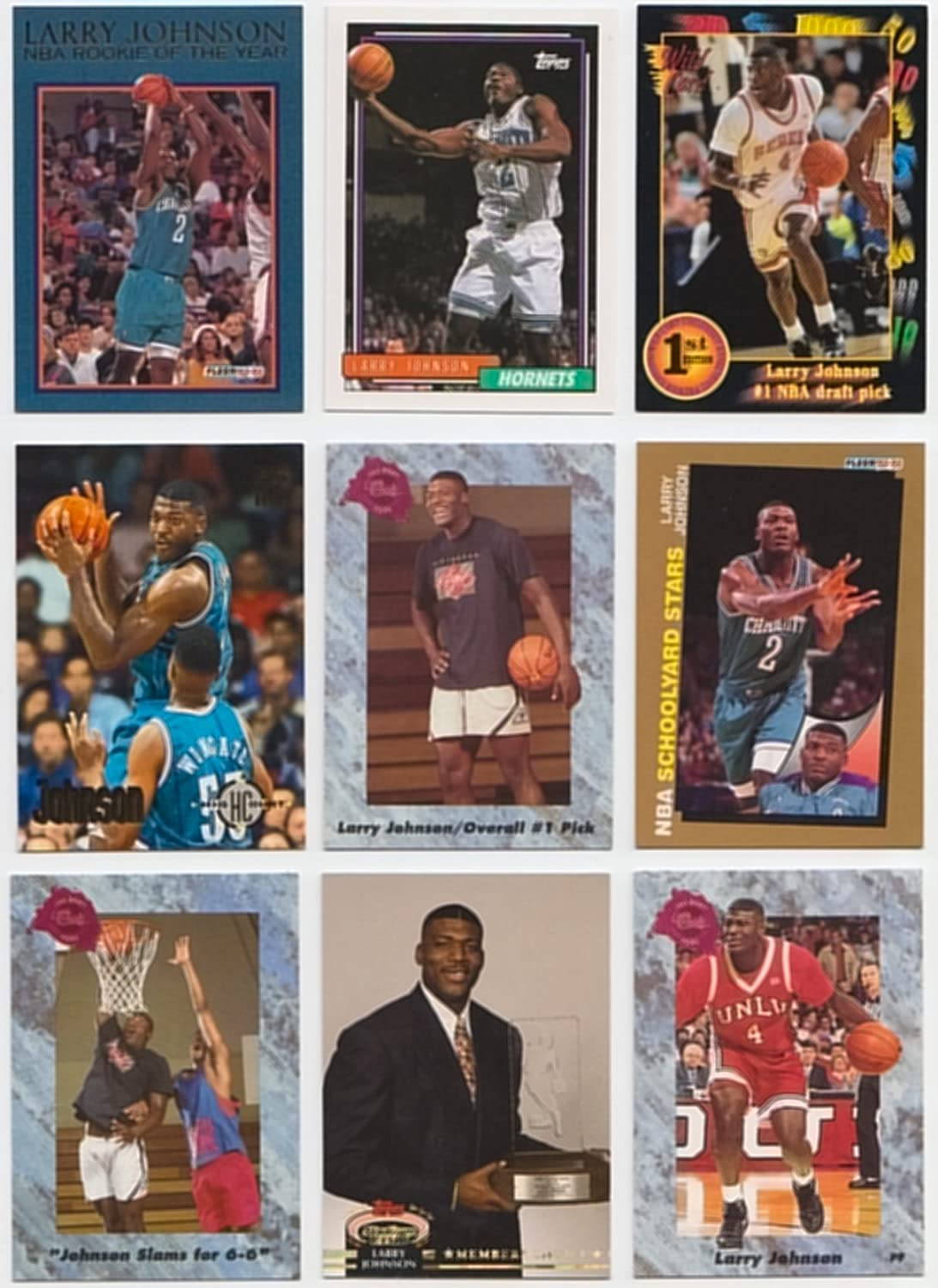 Larry Johnson 25 Different Basketball Cards Featuring