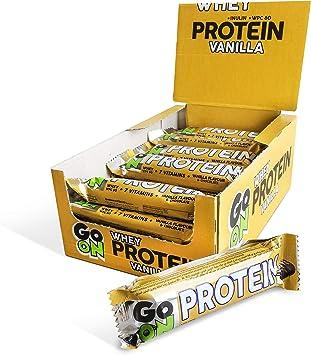 Sante Baton Go On Pack de barritas de 24x50 g - Barrita energética de proteínas - Concentrado de proteína de suero - Con vitaminas (Vanilla)