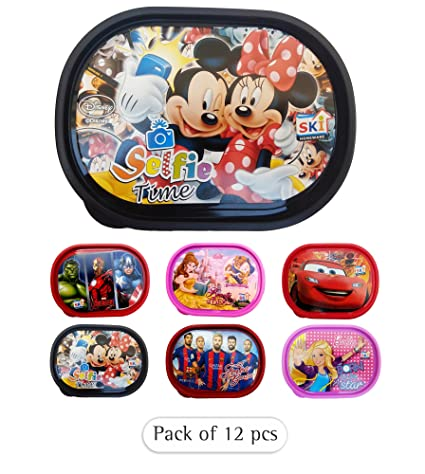 ARVANA Printed Cartoon Lunch Box Tiffin Kids Birthday Return Gifts Pack Of 12 Amazonin Toys Games