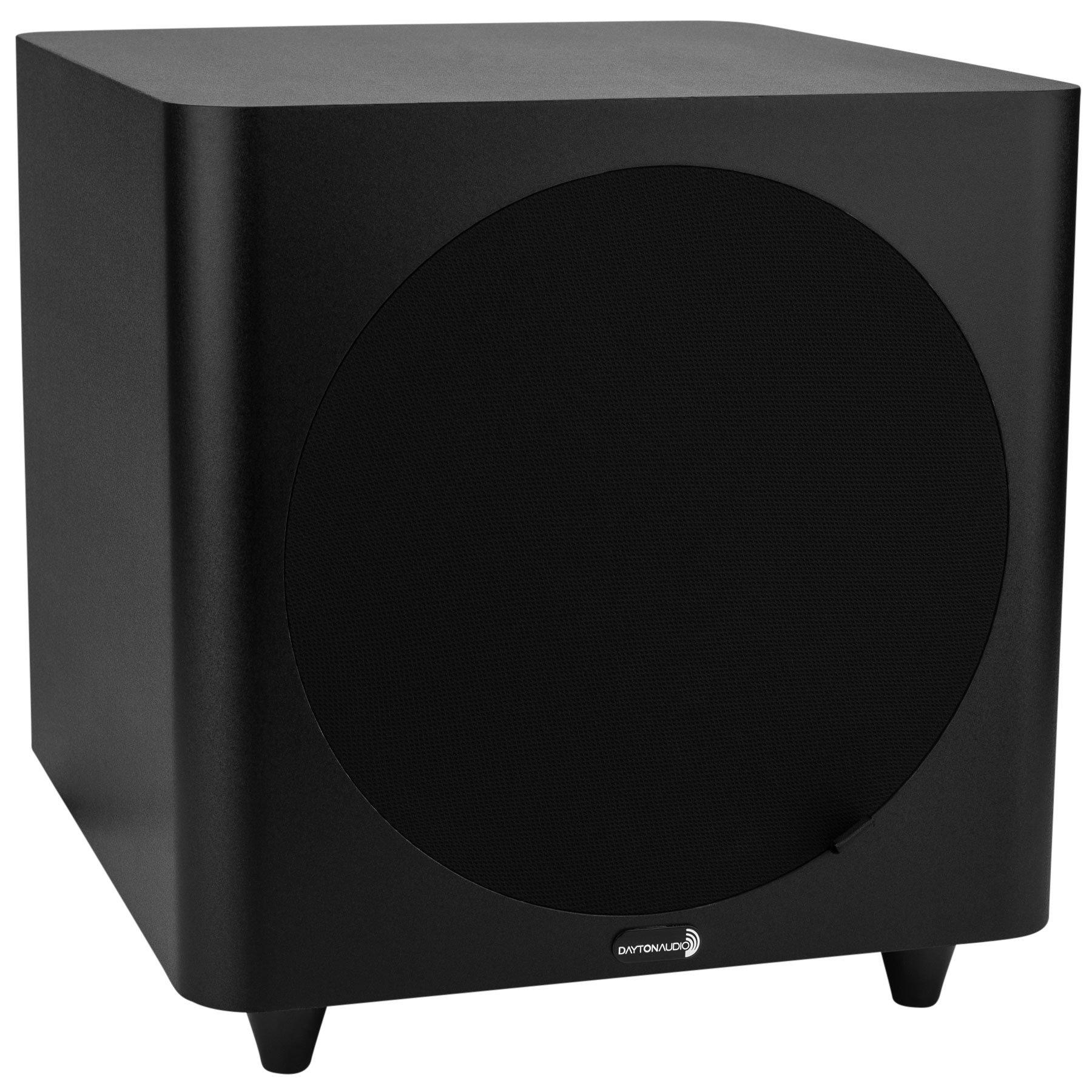 Dayton Audio SUB-800 8-Inch 80 Watt Powered Subwoofer (Black) by Dayton Audio