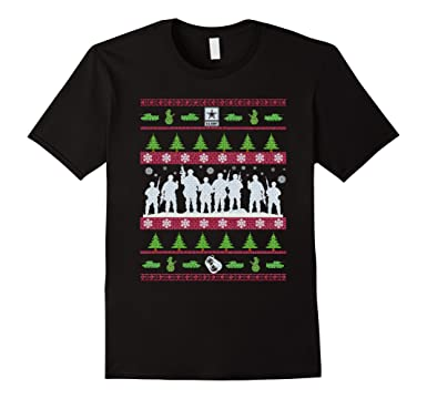Amazon.com: US Army Ugly Christmas Sweater Military T-Shirt: Clothing