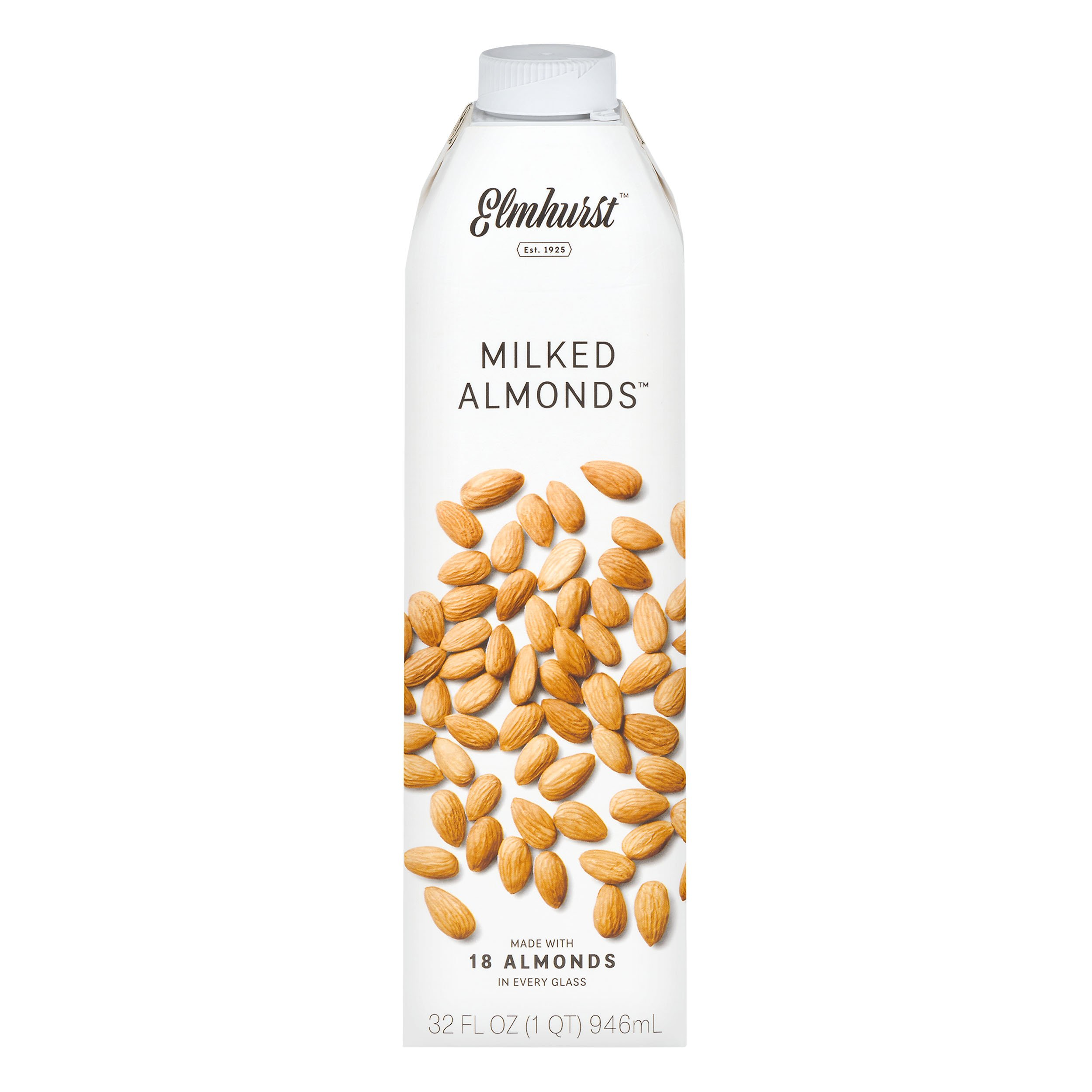 Elmhurst Milked - Almond Milk - 32 Fluid Ounces (Pack of 6) Only 5 Ingredients, 4X the Protein, Non Dairy, Keto Friendly, No Added Gums or Emulsifiers, Vegan by Elmhurst (Image #3)