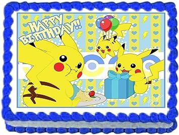 Amazon.com: Pikachu Pokemon Fiesta de cumpleaños Comestible ...