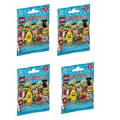 LEGO Minifigures Series 17 - Random Set of 4 Packs (71018): Toys & Games