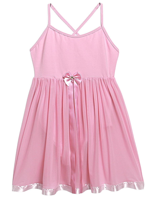 Arshiner Kids Girls V-Neck Sleeveless Backless Straps Ballet Leotard Dress ***AMS005087